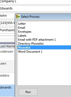 mail merge process selection dialogscreen